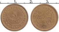 Изображение Монеты Колумбия 5 сентаво 1901 Латунь XF Лепрозорий.Богота