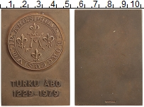 Изображение Монеты Финляндия Плакета 1979 Бронза UNC 750 лет основания го