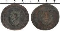 Изображение Монеты Ангола 1/2 макута 1837 Медь VF Надчеканка