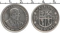 Изображение Монеты Маврикий 1 рупия 1997 Медно-никель UNC- Сэр Сиевосагур