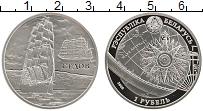 Изображение Монеты Беларусь 1 рубль 2008 Медно-никель Proof Парусник Седов