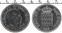 Изображение Монеты Монако 10 франков 1966 Серебро UNC- Чарльз III