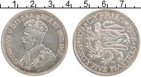 Изображение Монеты Кипр 45 пиастров 1928 Серебро XF 50 лет Британского п