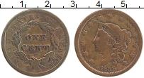 Изображение Монеты США 1 цент 1838 Медь VF