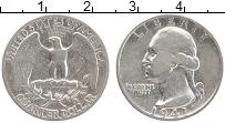 Изображение Монеты США 1/4 доллара 1941 Серебро VF