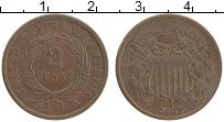 Изображение Монеты США 2 цента 1865 Медь XF+