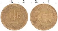 Изображение Монеты Монако 1 франк 1926 Латунь UNC-