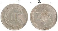 Изображение Монеты США 3 цента 1851 Серебро XF