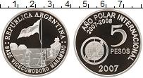 Продать Монеты Аргентина 5 песо 2007 Серебро