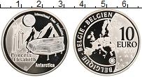 Изображение Монеты Бельгия 10 евро 2007 Серебро Proof `Антарктическая стан