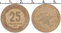 Изображение Монеты Экваториальные Африканские территории 25 франков 1985 Латунь XF