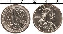 Изображение Мелочь США 1 доллар 2021 Латунь UNC