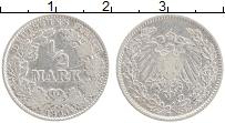 Изображение Монеты Германия 1/2 марки 1905 Серебро XF Герб D