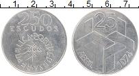 Изображение Монеты Португалия 250 эскудо 1976 Серебро UNC- Революция гвоздик 25