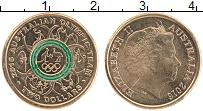 Изображение Монеты Австралия 2 доллара 2016 Бронза UNC Тампопечать. Алюмини