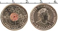 Изображение Монеты Австралия 2 доллара 2020 Бронза UNC Тампопечать. Алюмини