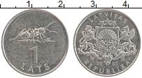 Изображение Монеты Латвия 1 лат 2003 Медно-никель XF Муравей
