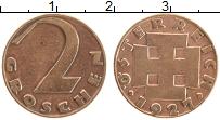 Изображение Монеты Австрия 2 гроша 1927 Бронза XF Герб