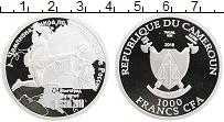 Изображение Монеты Камерун 1000 франков 2018 Серебро Proof Чемпионат Мира по фу