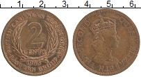 Изображение Монеты Карибы 2 цента 1965 Бронза XF Елизавета II.