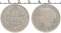 Изображение Монеты Либерия 50 центов 1906 Серебро VF