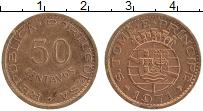 Изображение Монеты Сан-Томе и Принсипи 50 сентаво 1971 Бронза XF