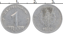 Изображение Монеты ГДР 1 пфенниг 1950 Алюминий XF Е