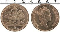 Изображение Монеты Гибралтар 5 фунтов 1994 Латунь UNC Высадка в Нормандии