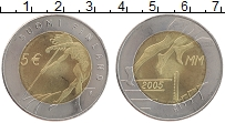 Изображение Монеты Финляндия 5 евро 2005 Биметалл UNC- 10-й чемпионат мира