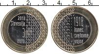 Продать Монеты Словения 3 евро 2018 Биметалл