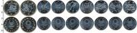 Изображение Наборы монет Япония Олимпиада в Токио 2020 Медно-никель UNC В наборе 9 монет ном