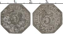 Изображение Монеты Германия : Нотгельды 5 пфеннигов 1918 Цинк VF Клейнгельдер