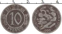 Изображение Монеты Германия : Нотгельды 10 пфеннигов 1920 Железо VF Бонн.Бетховен