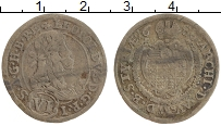 Изображение Монеты Австрия 6 крейцеров 1686 Серебро VF Леопольд