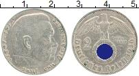 Изображение Монеты Третий Рейх 2 марки 1936 Серебро XF J. Пауль фон Гинденб