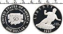 Изображение Монеты США 1 доллар 1997 Серебро Proof Джекки Робинсон S
