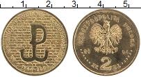 Изображение Монеты Польша 2 злотых 2004 Латунь XF 60 лет Варшавского в