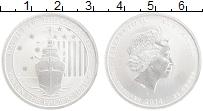 Изображение Монеты Австралия 50 центов 2014 Серебро UNC Елизавета II. Битва