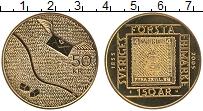 Изображение Монеты Швеция 50 крон 2005 Латунь UNC 150 лет первой почто
