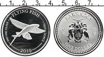Изображение Монеты Барбадос 1 доллар 2019 Серебро Proof Летучая рыба