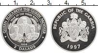 Продать Монеты Гамбия 2 даласи 1997 Серебро