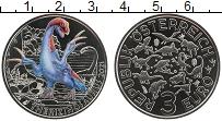 Изображение Мелочь Австрия 3 евро 2021 Медно-никель UNC Динозавры. Теризиноз