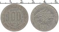 Изображение Монеты Центральная Африка 100 франков 1996 Медно-никель VF