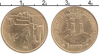 Изображение Монеты Сан-Марино 20 лир 1982 Латунь UNC