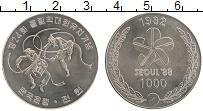 Изображение Монеты Южная Корея 1000 вон 1982 Медно-никель UNC Олимпийские игры в С