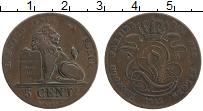 Изображение Монеты Бельгия 5 сантим 1842 Медь VF Лев