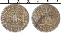 Изображение Монеты Сан Томе и Принсисипи 10 эскудо 1939 Серебро XF Португальский