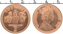 Изображение Монеты Гибралтар 2 пенса 2011 Медь UNC- Елизавета II. Вторая