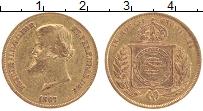 Изображение Монеты Бразилия 10000 рейс 1867 Золото VF Педро II (KM#467, 0.