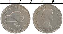 Изображение Монеты Новая Зеландия 1 флорин 1965 Медно-никель XF Елизавета II